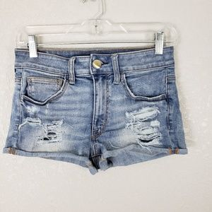 American Eagle high hi rise cheeky shortie shorts